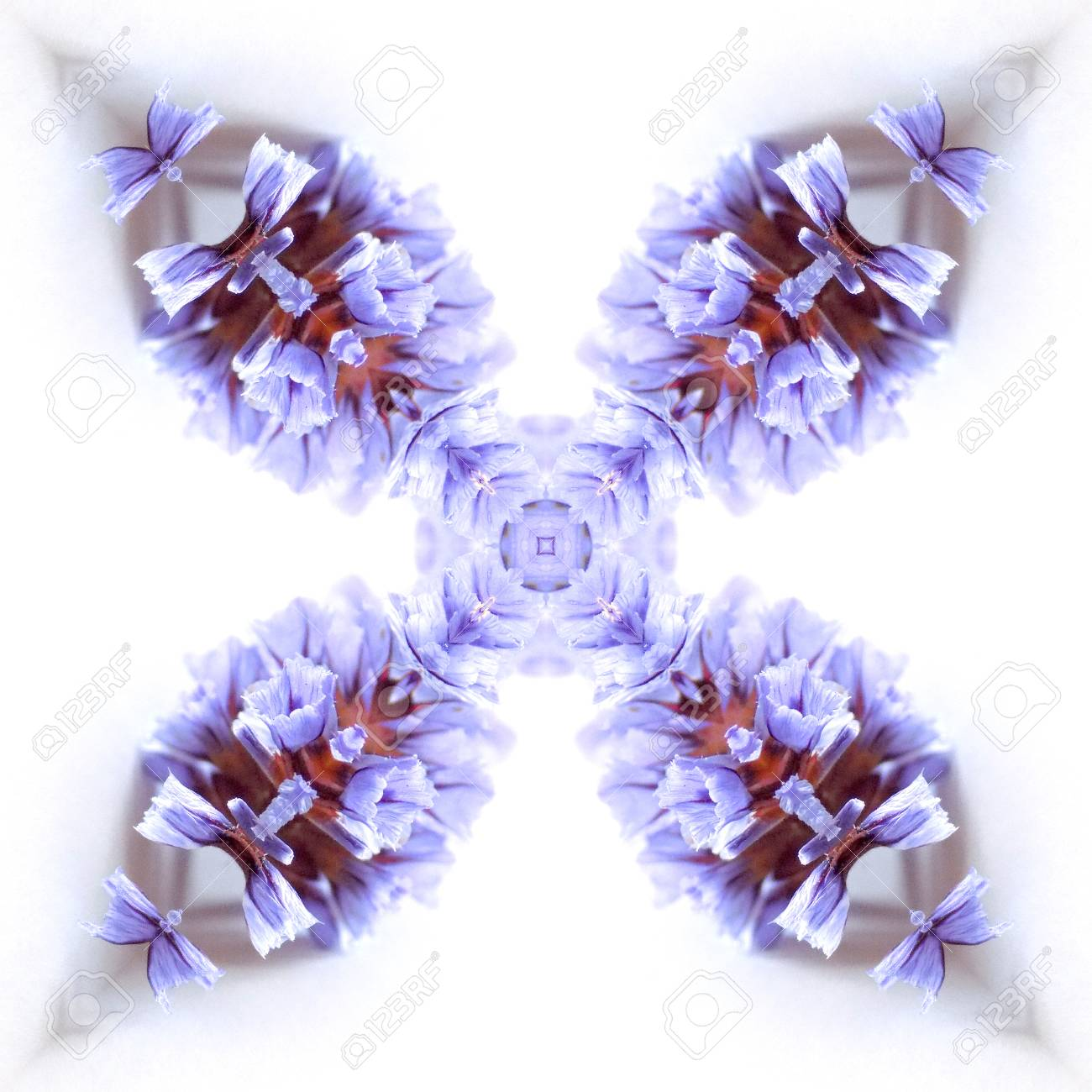 Abstract flowers seamless pattern background. Kaleidoscope from flowers. Hydraulic tile design. - 104075020