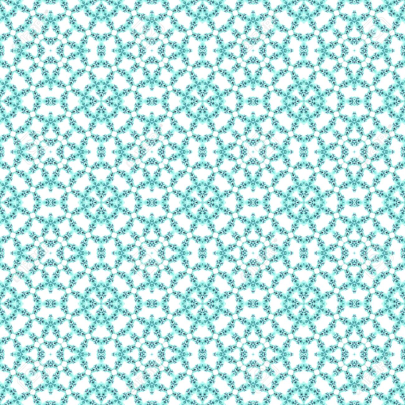 Abstract flowers seamless pattern background. Kaleidoscope from flowers. Hydraulic tile design. - 104074905