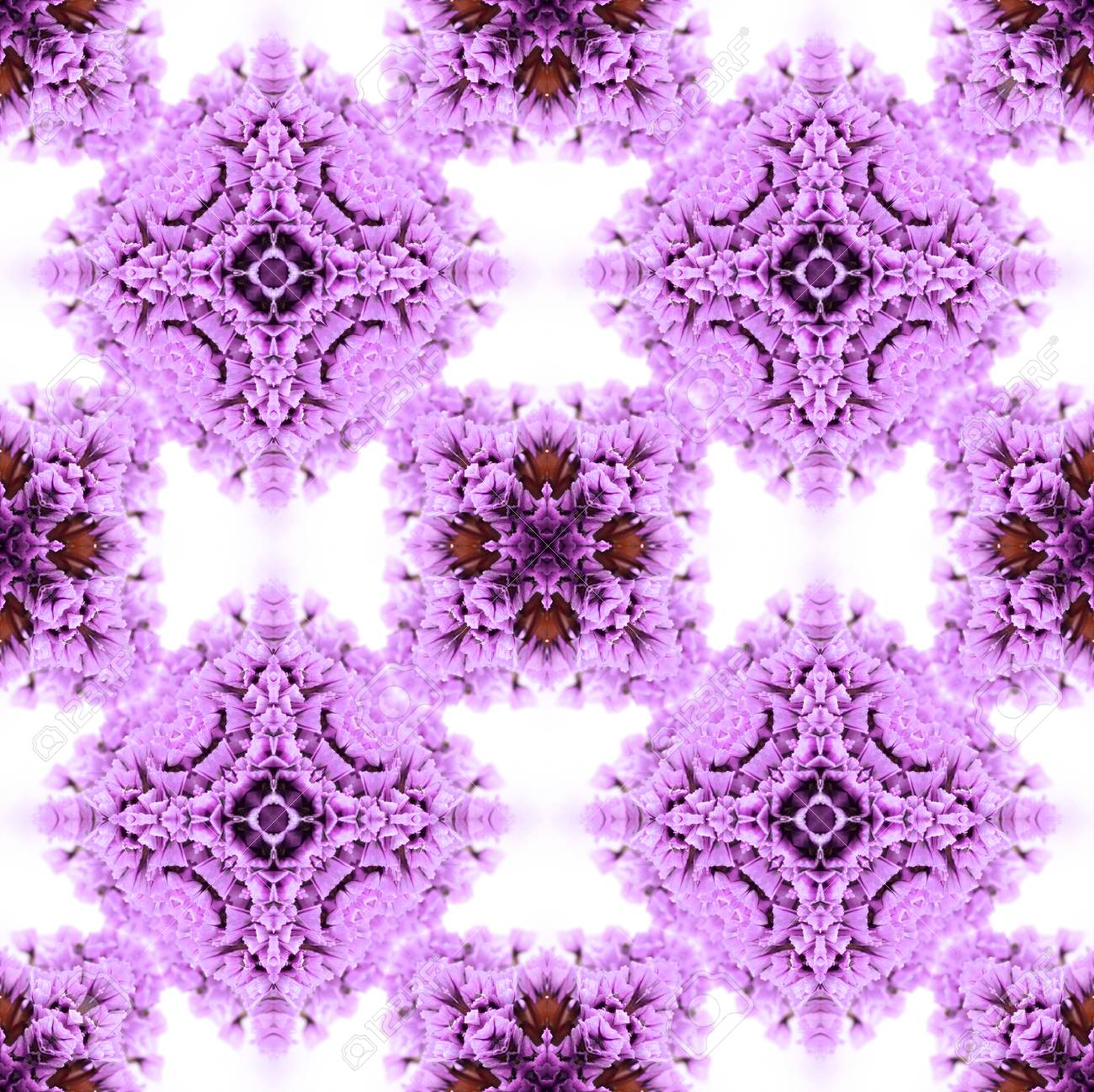 Abstract flowers seamless pattern background. Kaleidoscope from flowers. Hydraulic tile design. - 104074904