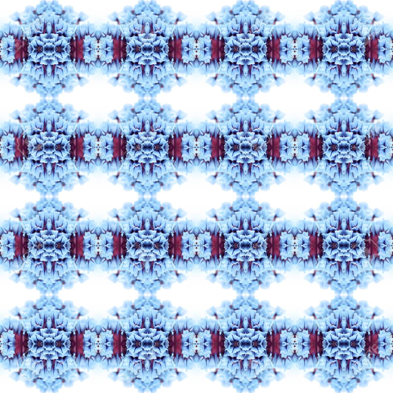 Abstract flowers seamless pattern background. Kaleidoscope from flowers. Hydraulic tile design. - 104074916