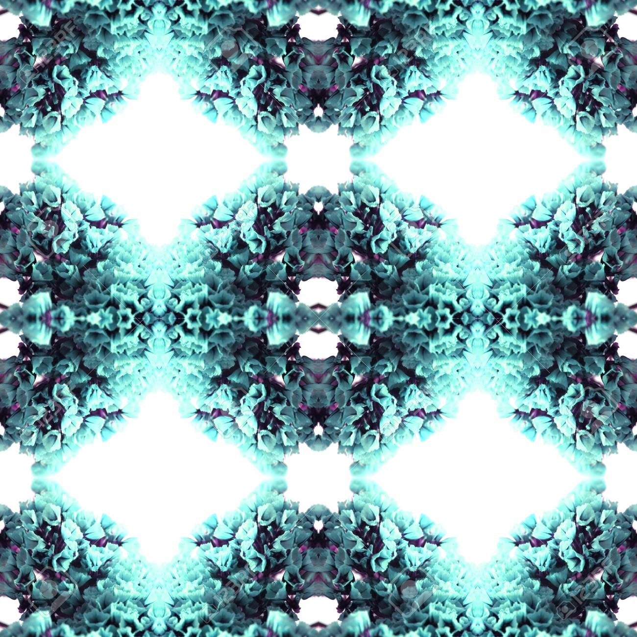 Abstract flowers seamless pattern background. Kaleidoscope from flowers. Hydraulic tile design. - 104074917