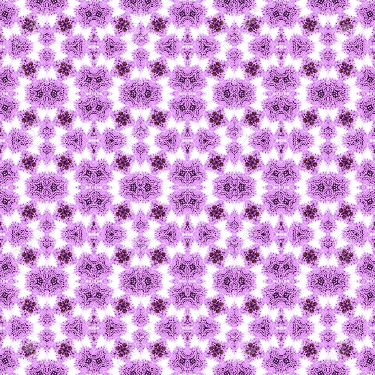 Abstract flowers seamless pattern background. Kaleidoscope from flowers. Hydraulic tile design. - 104075088
