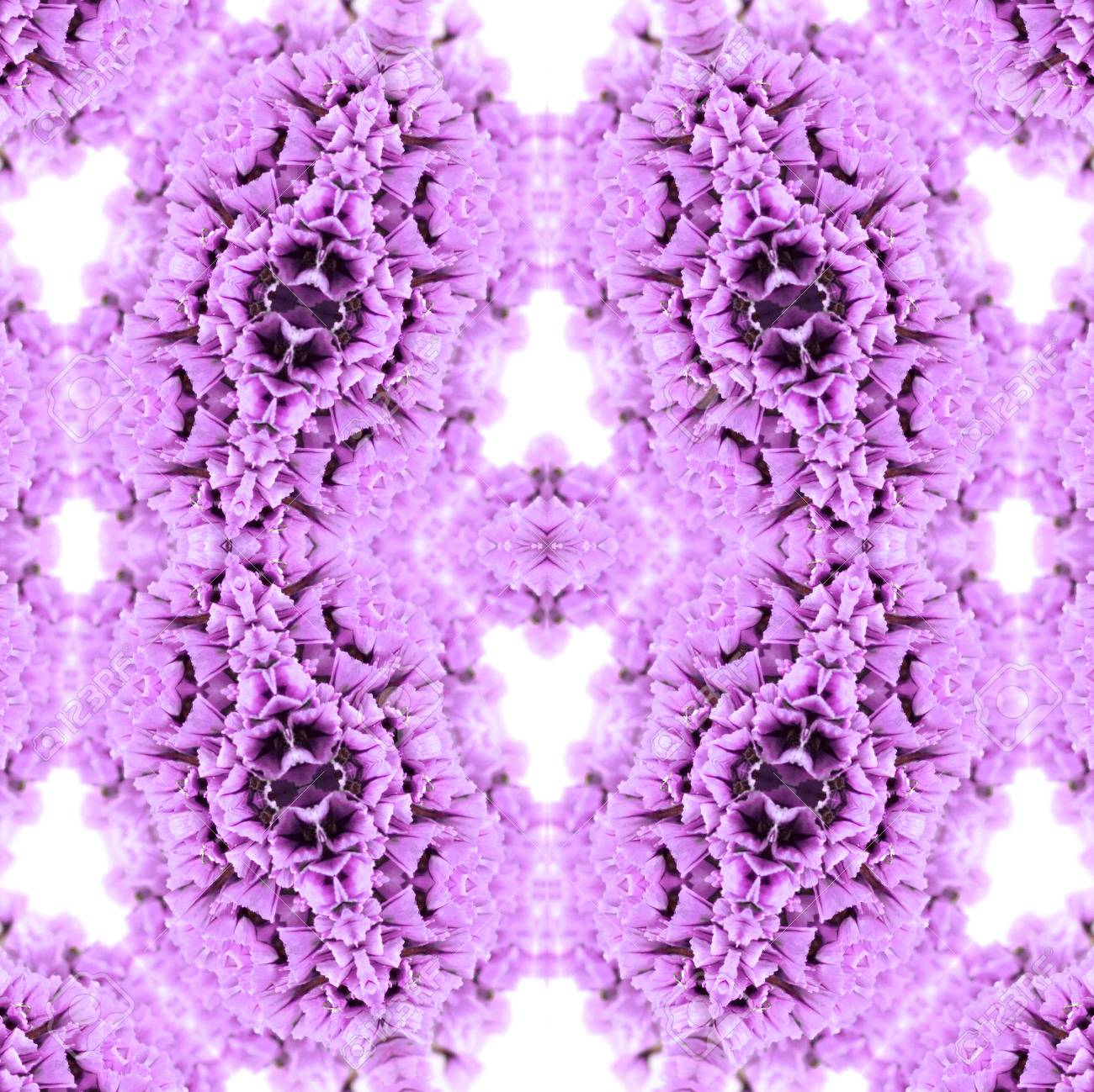 Abstract flowers seamless pattern background. Kaleidoscope from flowers. Hydraulic tile design. - 104074695