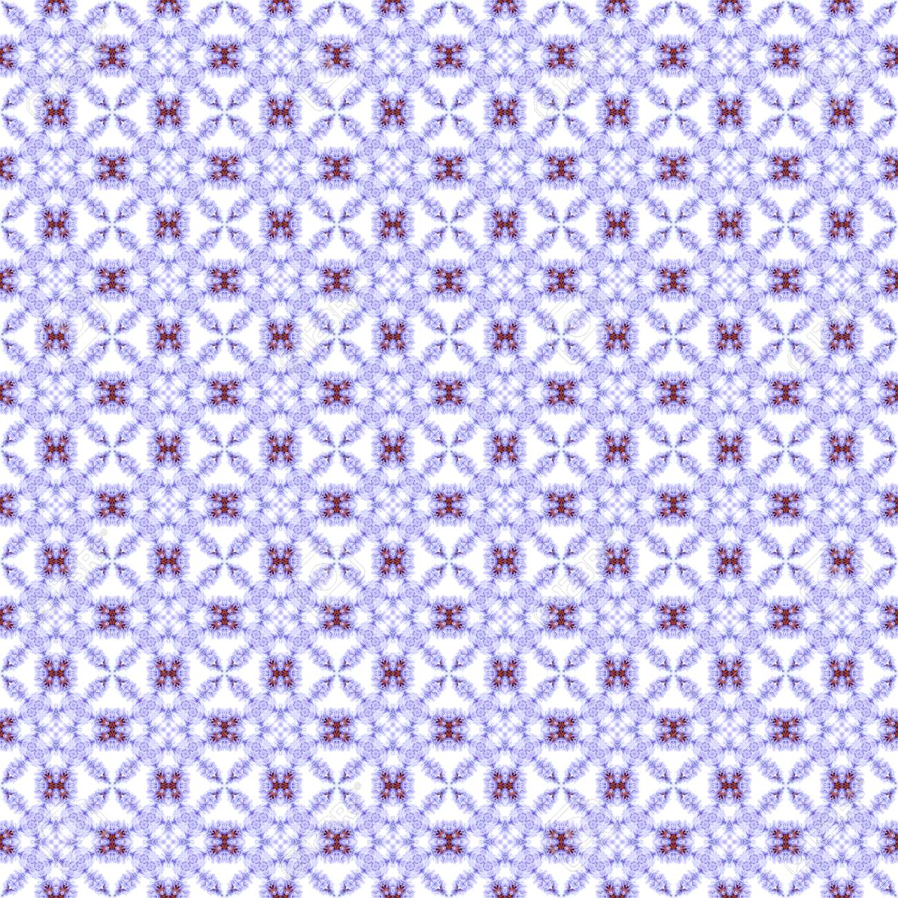 Abstract flowers seamless pattern background. Kaleidoscope from flowers. Hydraulic tile design. - 104074716
