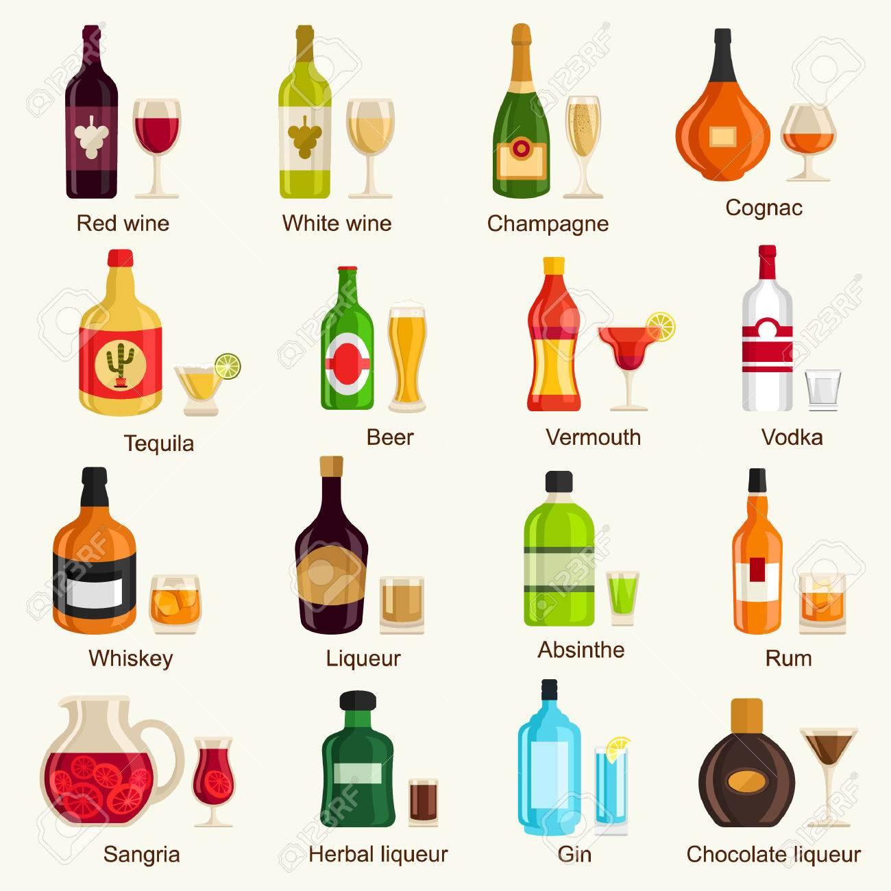 Alkoholische Getränke Lizenzfrei Nutzbare Vektorgrafiken, Clip Arts ...