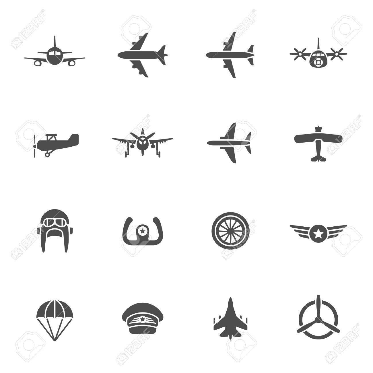 Aviation icon set - 40240416