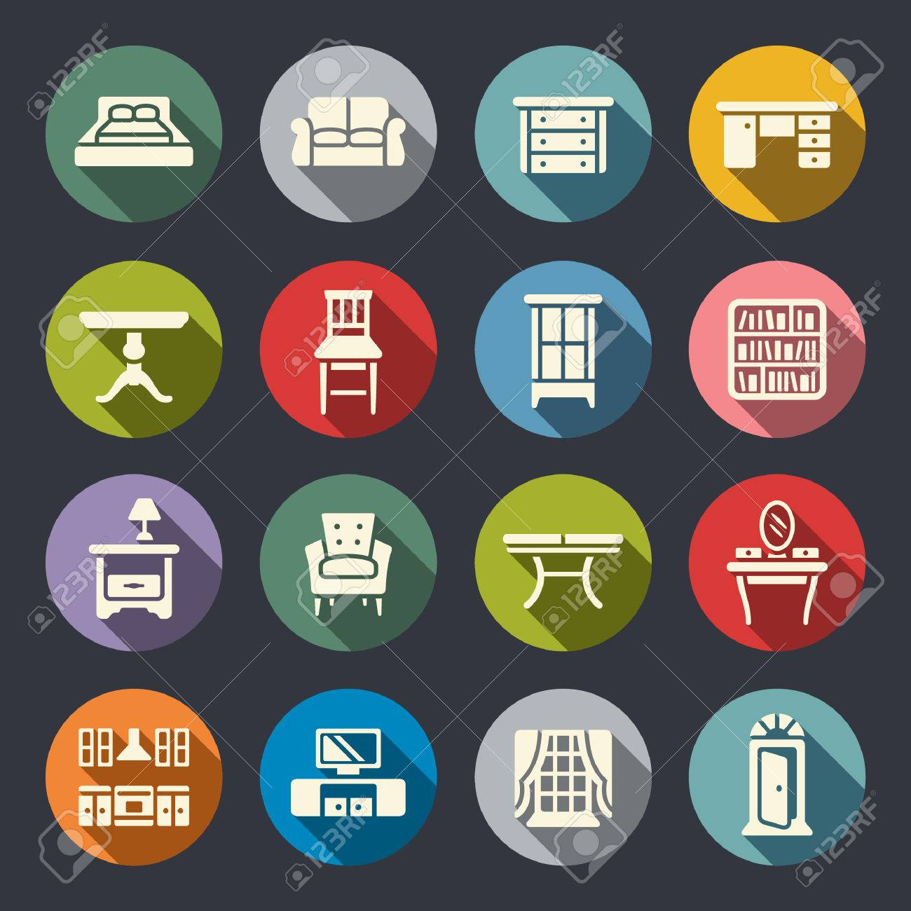 furniture icon set - 40239655