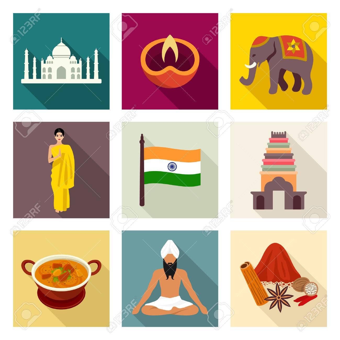 India icon set - 40239671