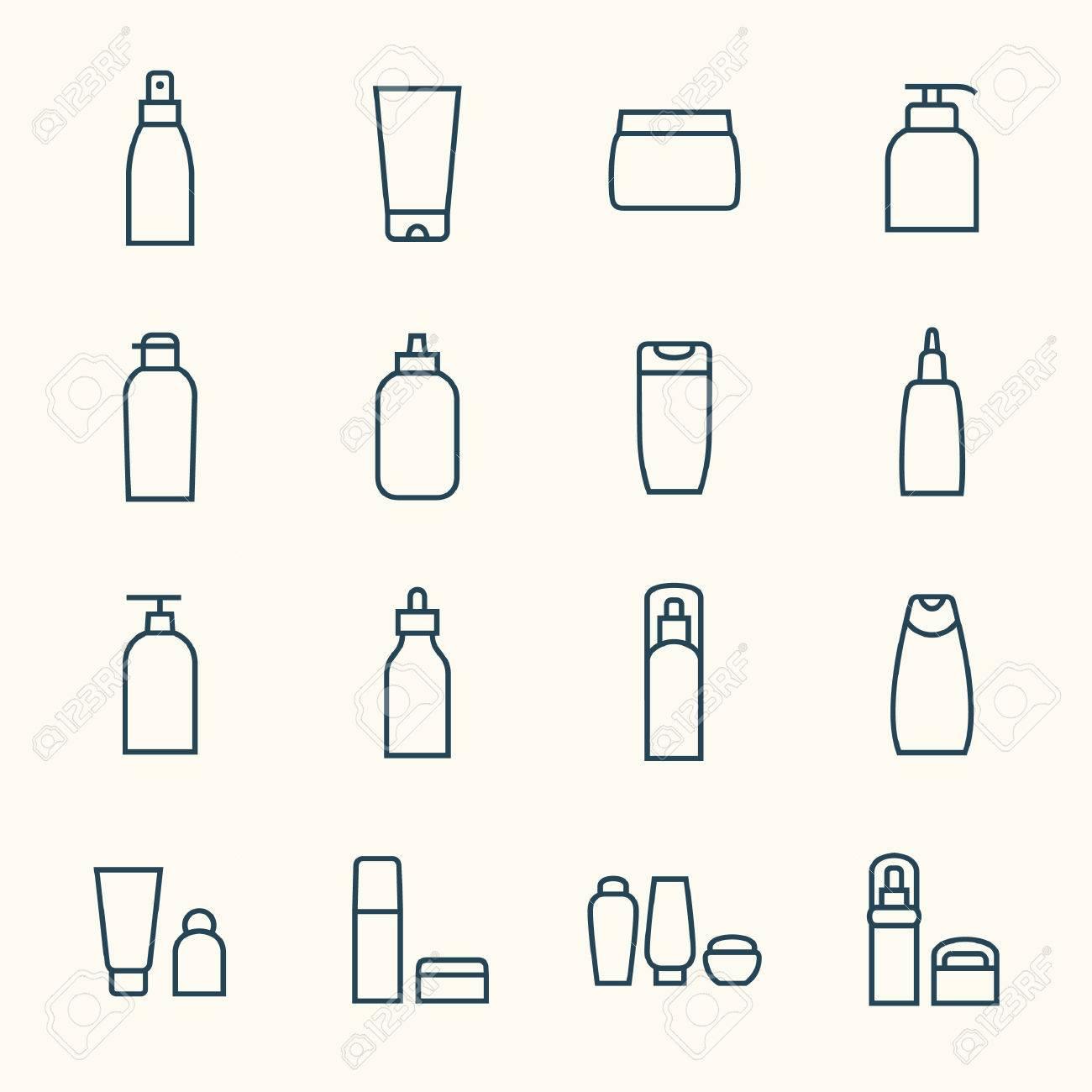 Cosmetics icon set - 43211309