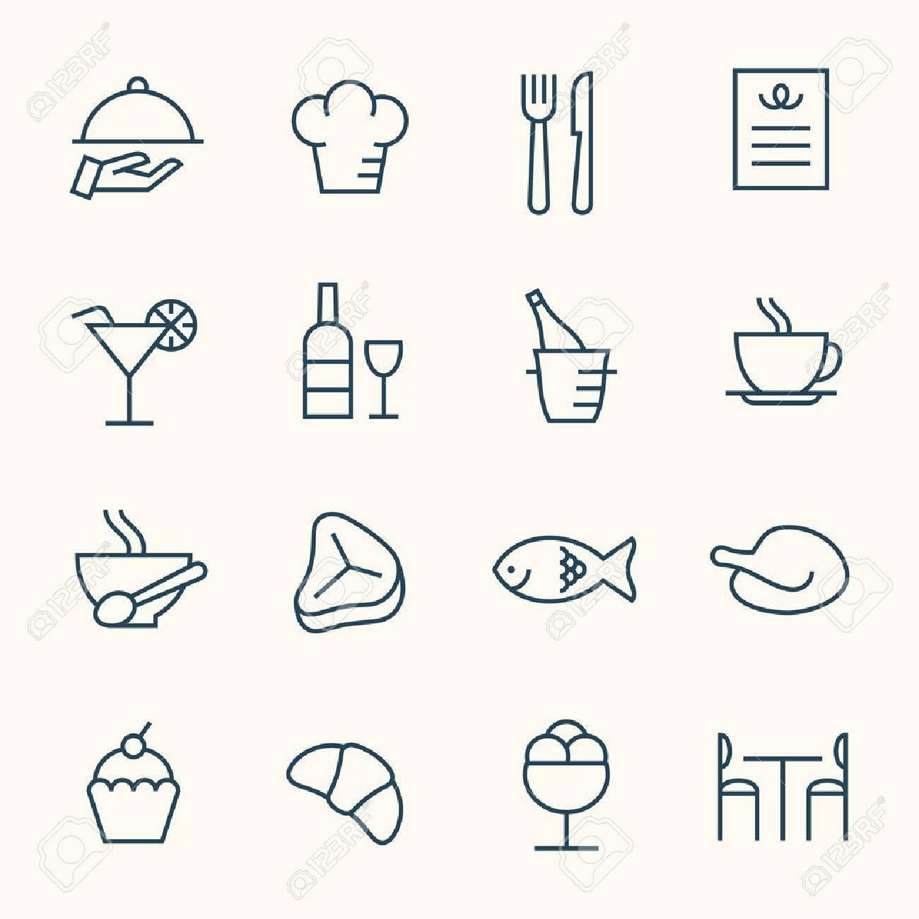 Restaurant icon set - 43211436
