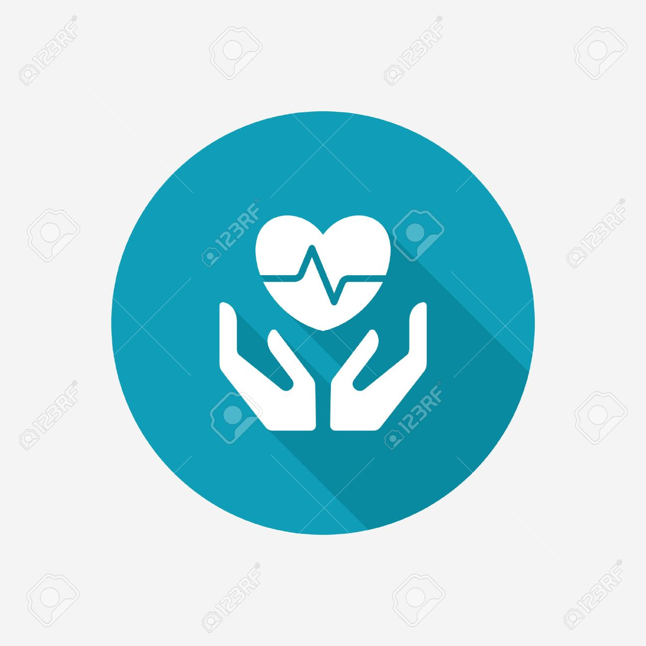 Life and health insurance icon - 52358869