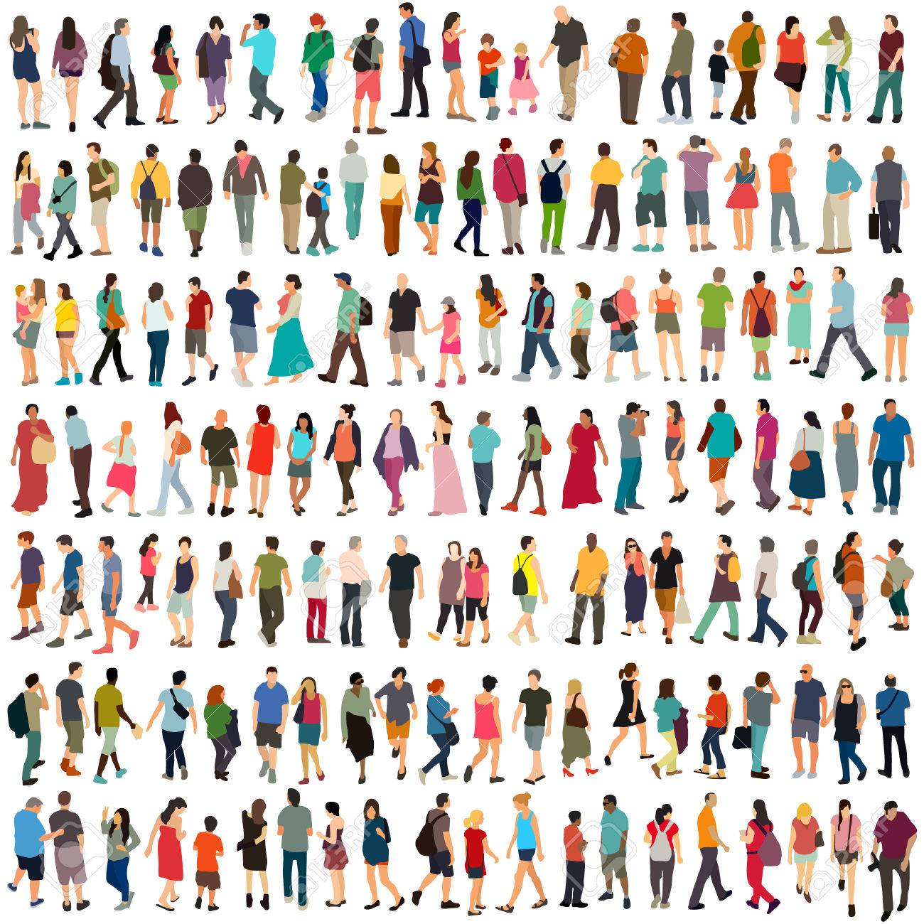 Vector people large set - 52359022
