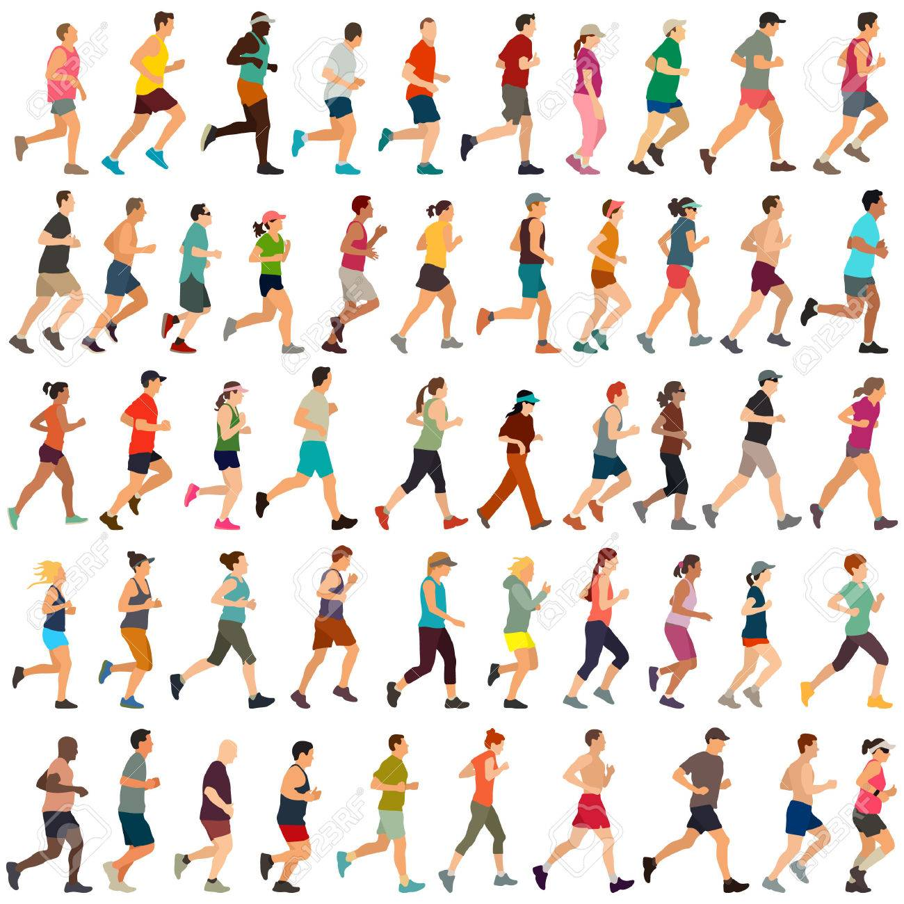 Large collection of vector runners - 52359024
