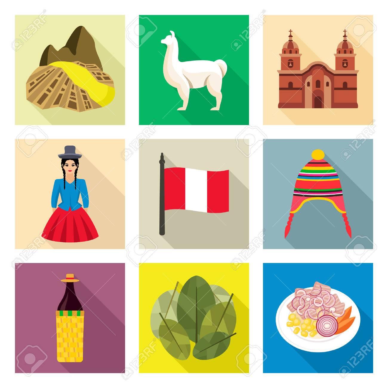 Peru icons - 52359061