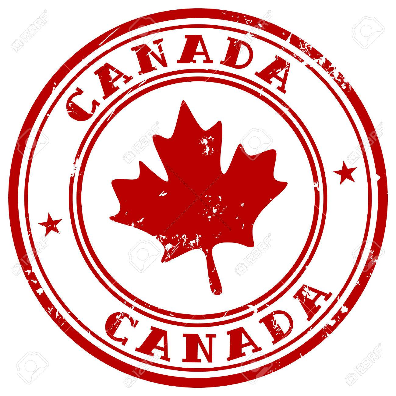 stamp with name of Canada - 52359305