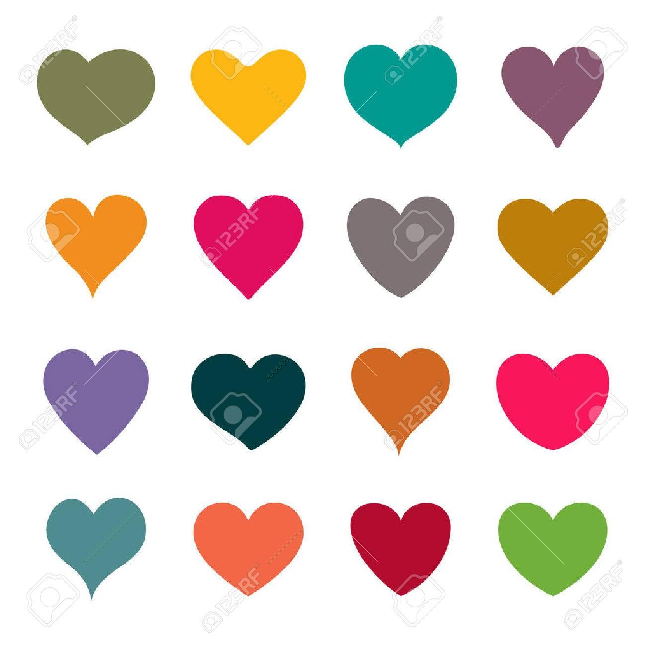 Set of vector hearts - 52359393