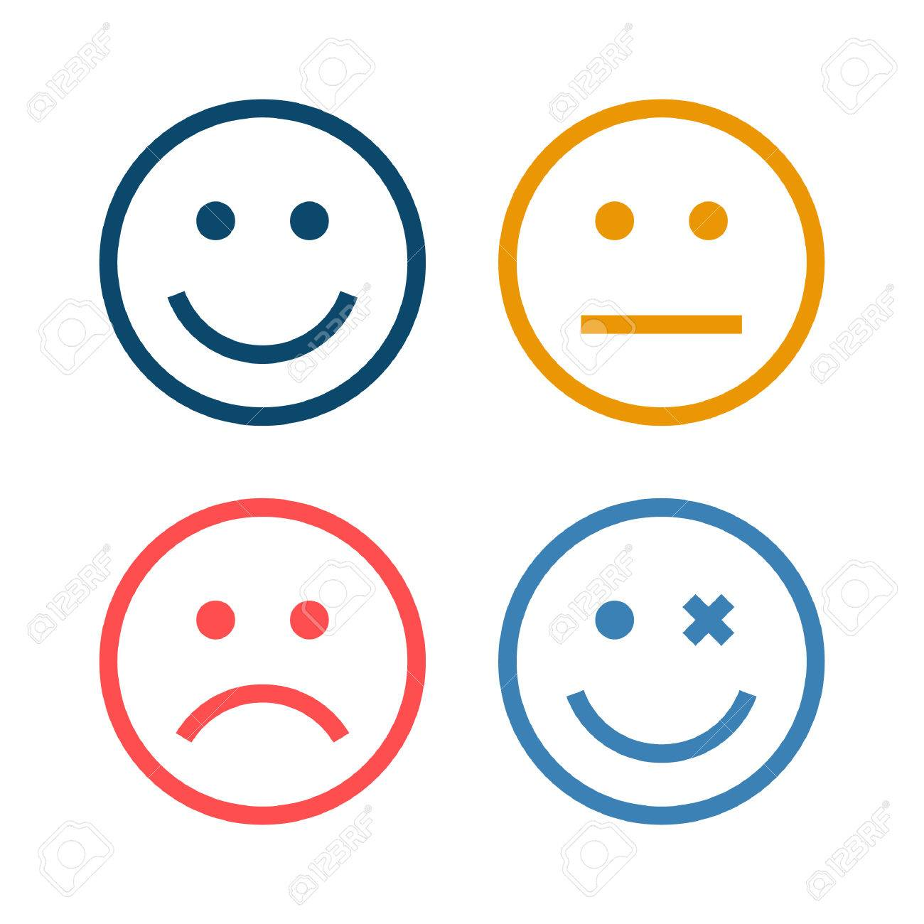 4 Smiley Icon - 53709195