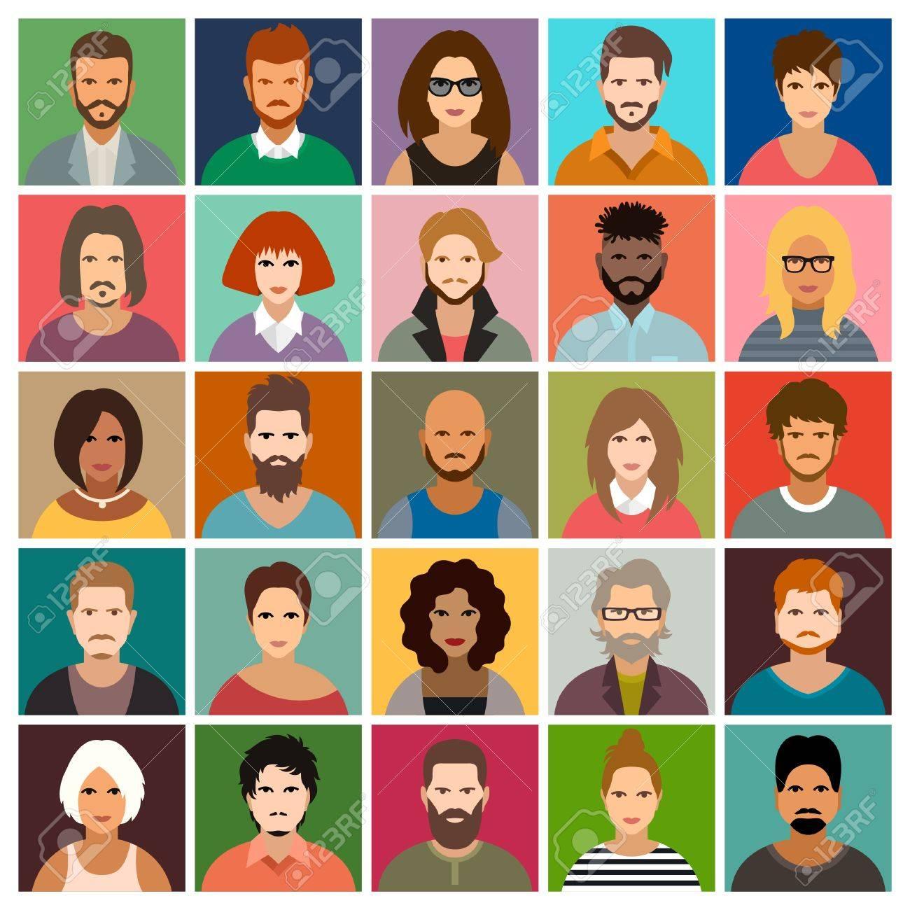 People icon set - 53709221