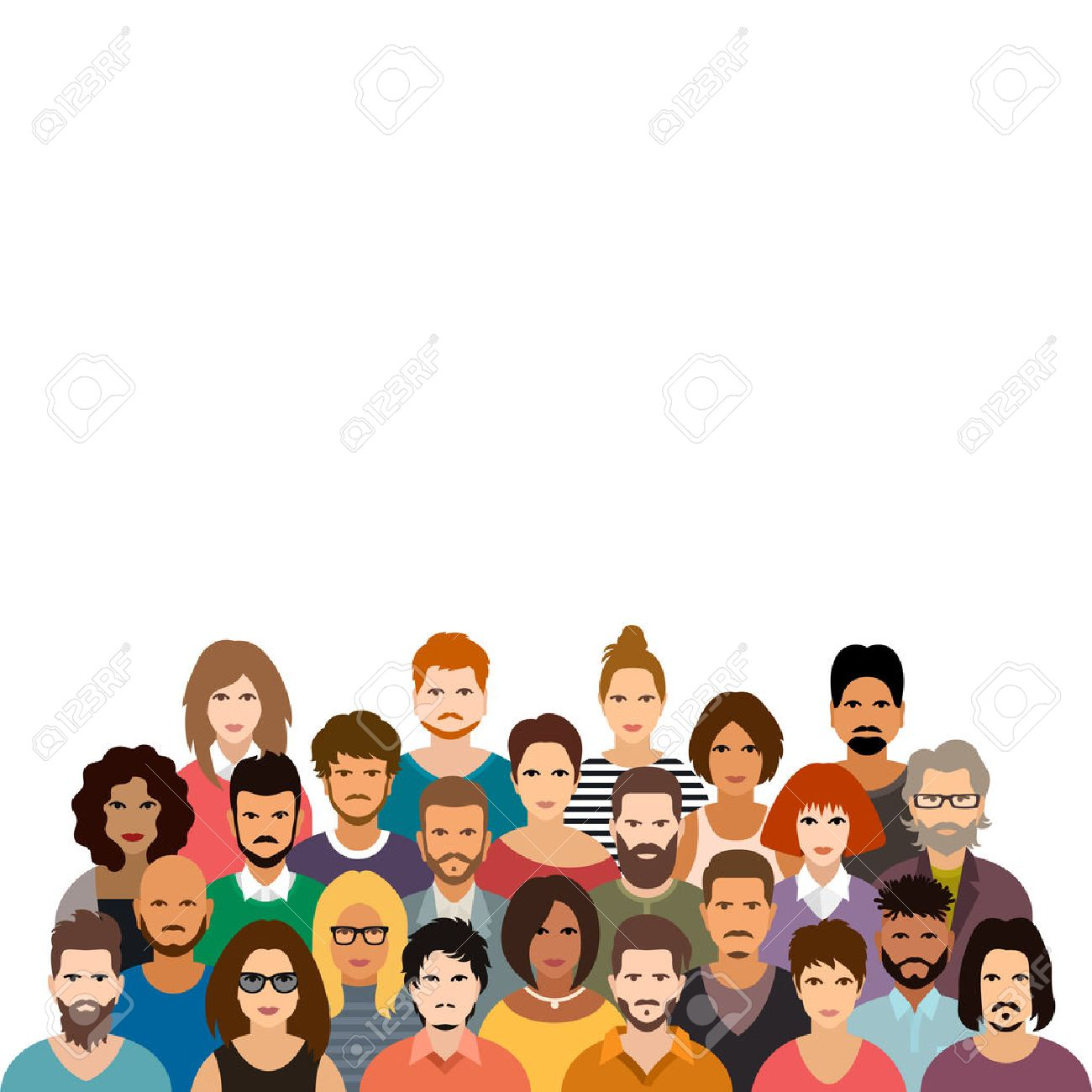 people crowd vector illustration royalty free cliparts vectors and rh 123rf com crown vector free download crown vector free