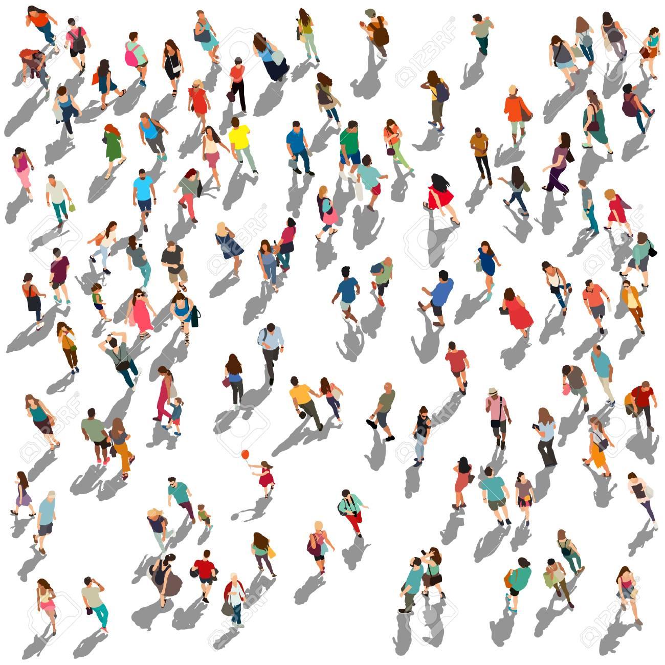People crowd vector illustration - 107998236