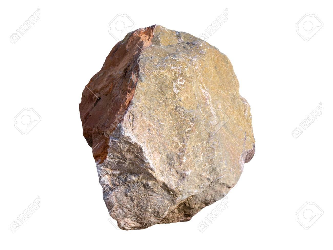 Big Granite Rock Stone Isolated On White Background