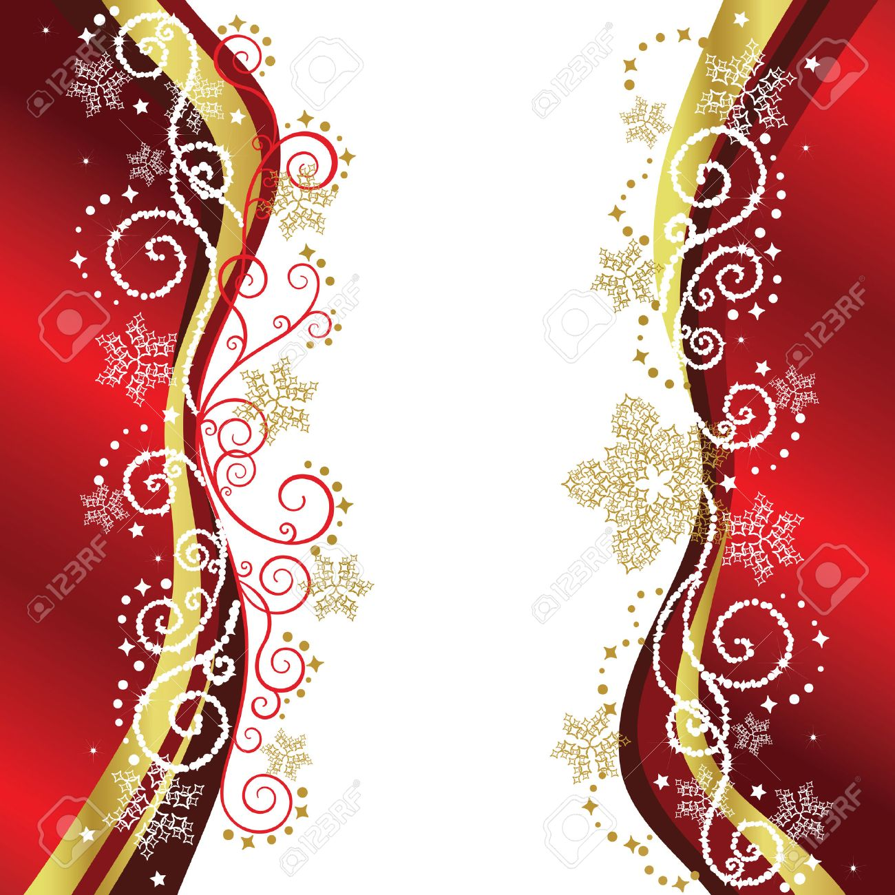 Red & Gold Christmas Border Designs Royalty Free Cliparts, Vectors ...