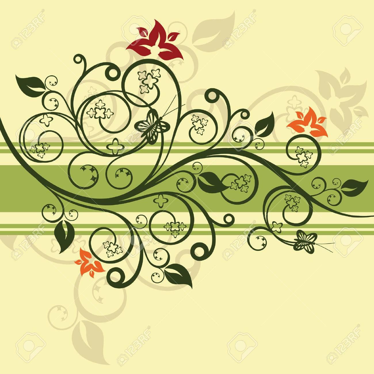 Green floral design vector illustration Stock Vector - 6015248