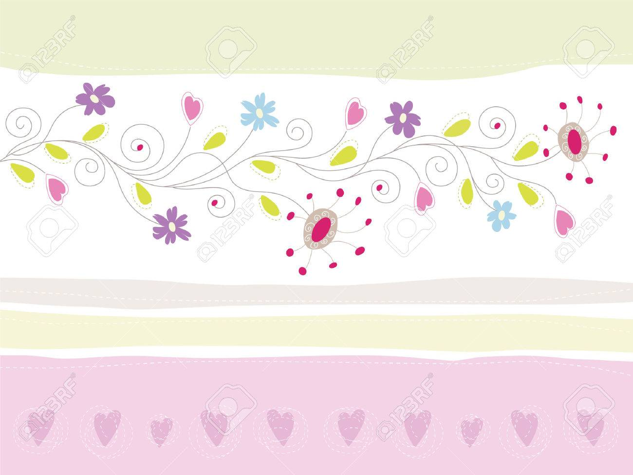 Floral Greeting Card Stock Vector - 6167907