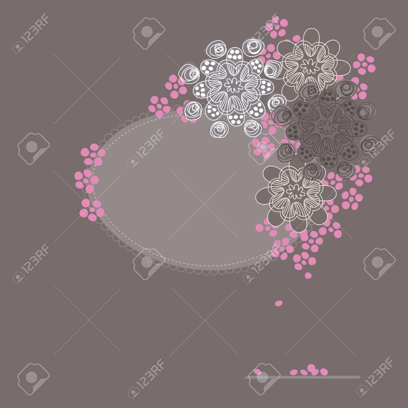 Cherry blossom greeting card Stock Vector - 6175882