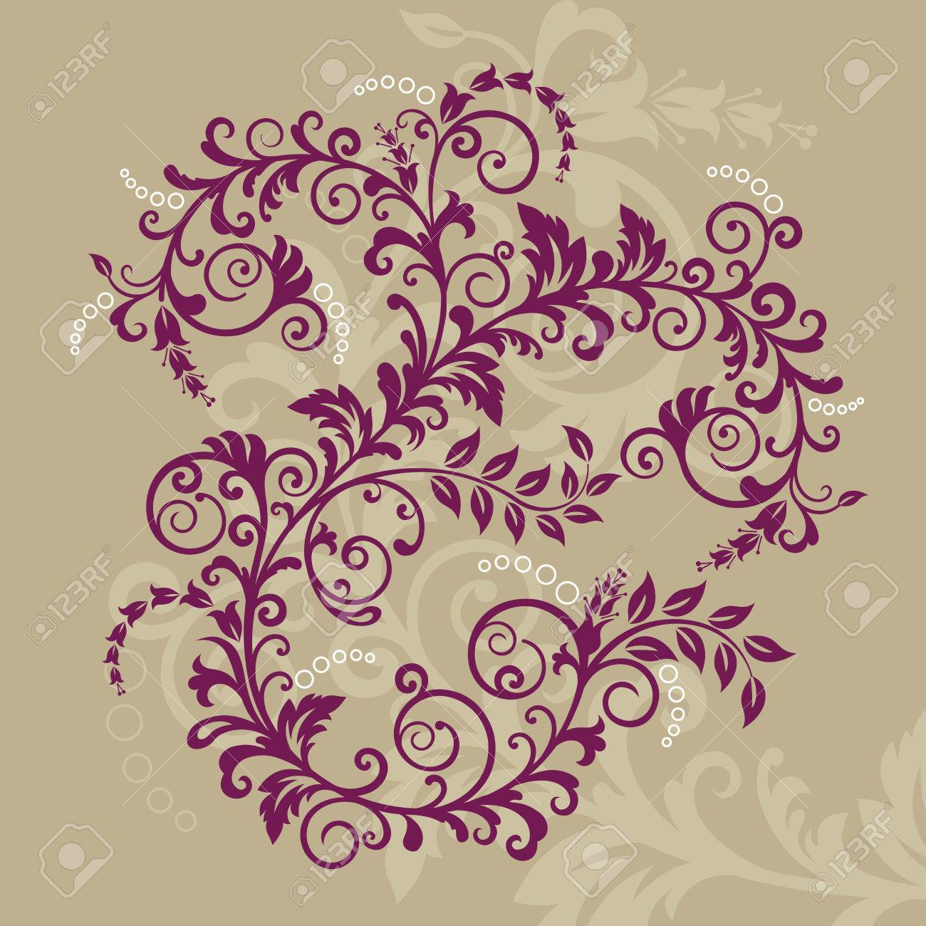 Beautiful red floral ornament Stock Vector - 6827381