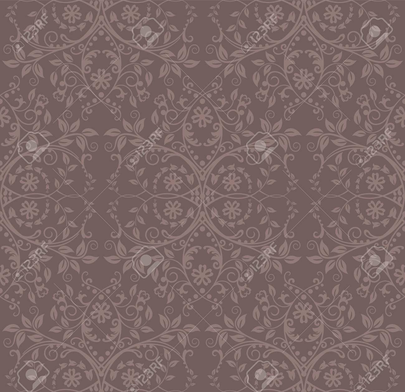 シームレスなココアの花の壁紙のイラスト素材 ベクタ Image 8328760
