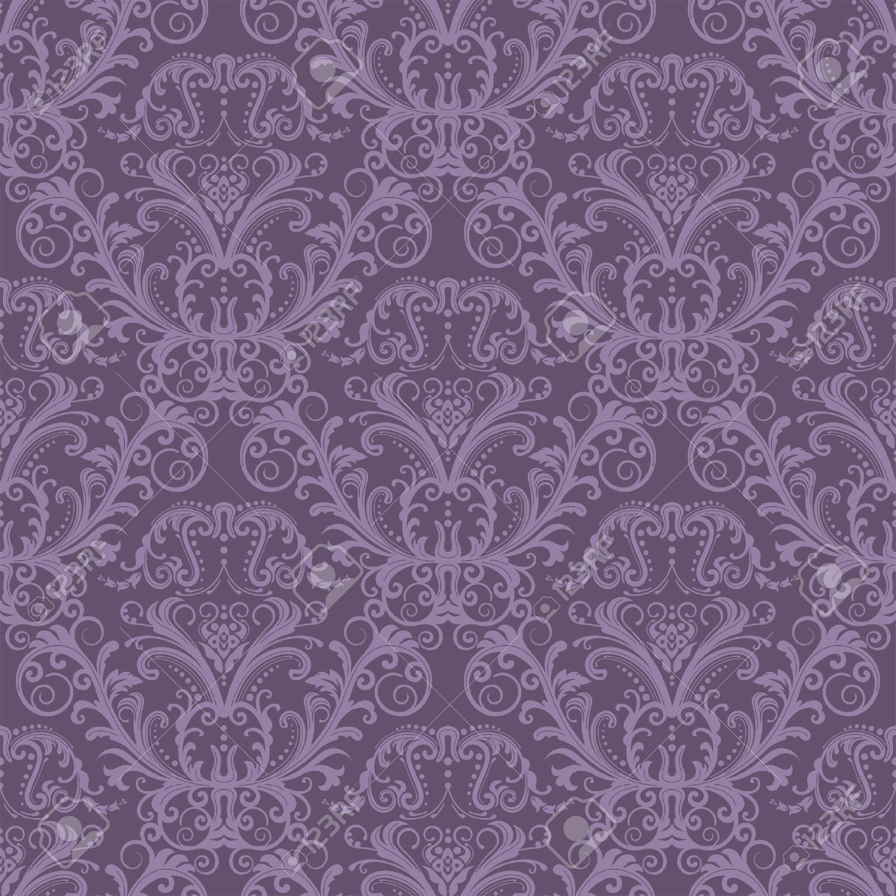 seamless purple floral wallpaper royalty free cliparts, vectors, Natural flower