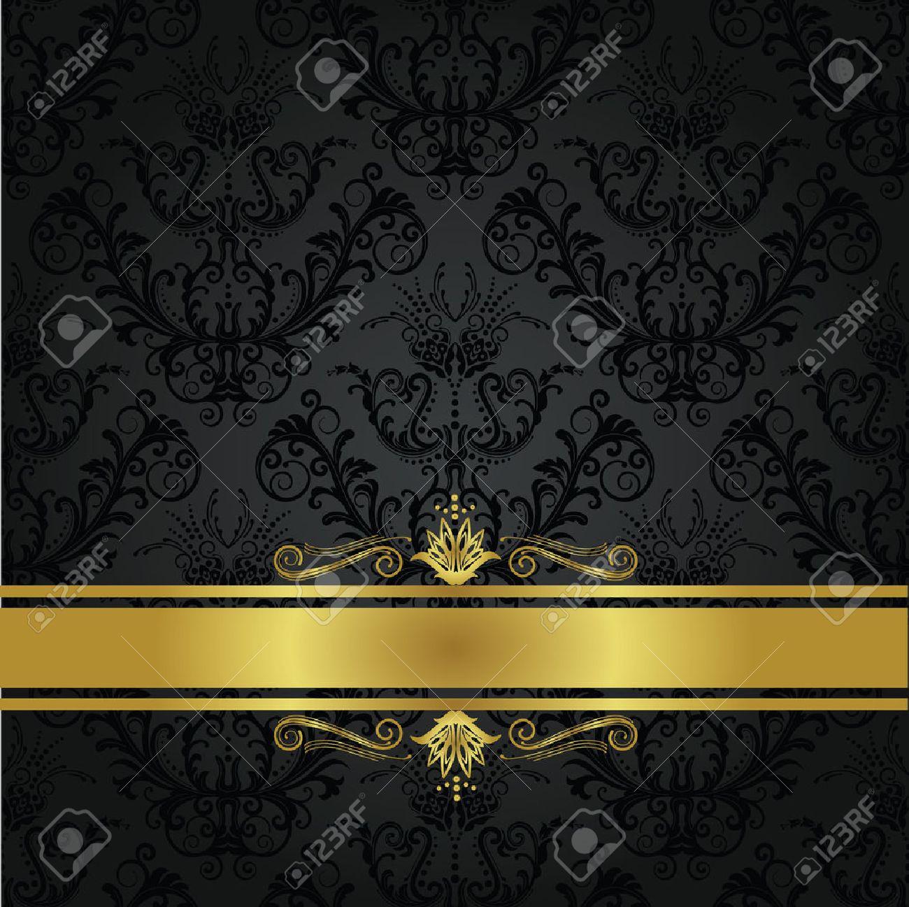 Charbon De Luxe Et Des Or Livre De Couverture Arriere Plan Peut Etre Utilise Comme Seamless Wallpaper Floral