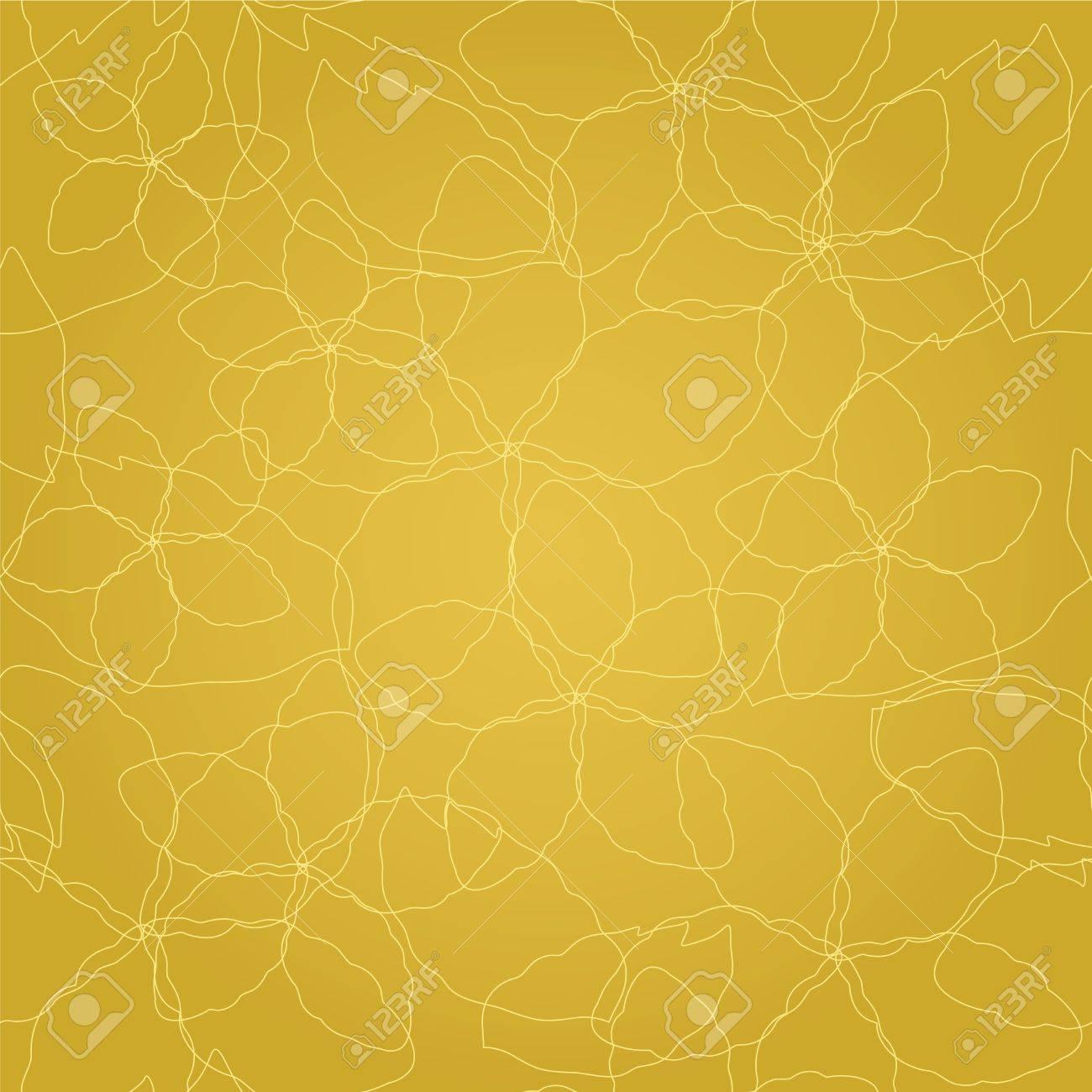 3cc5308de76d Foto de archivo - Seamless floral finas líneas de oro sobre fondo de  pantalla patrón oro