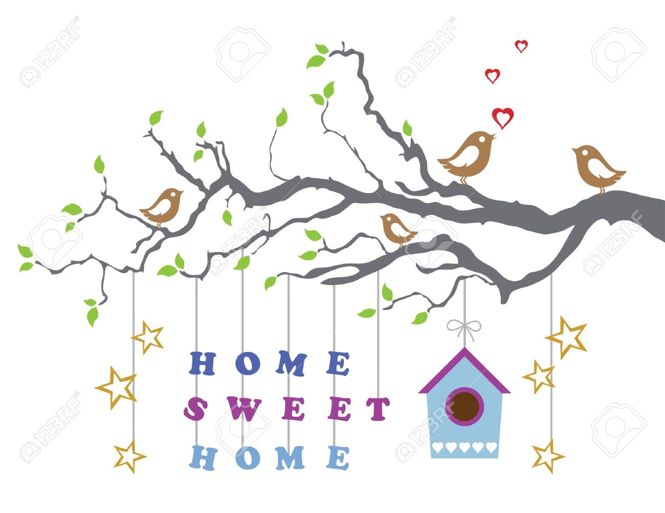 Home sweet home moving in new house greeting card royalty free home sweet home moving in new house greeting card stock vector 17280039 kristyandbryce Image collections