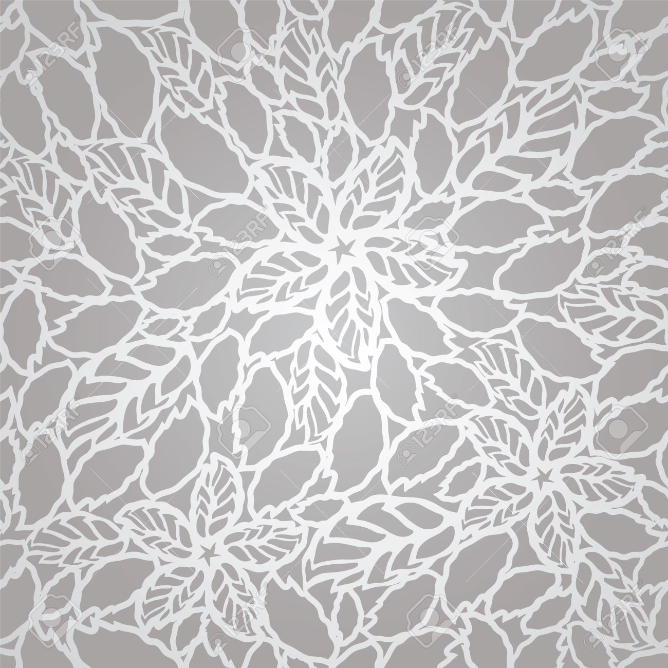 Seamless silver leaves and flowers lace wallpaper pattern this seamless silver leaves and flowers lace wallpaper pattern this image is a vector illustration mightylinksfo