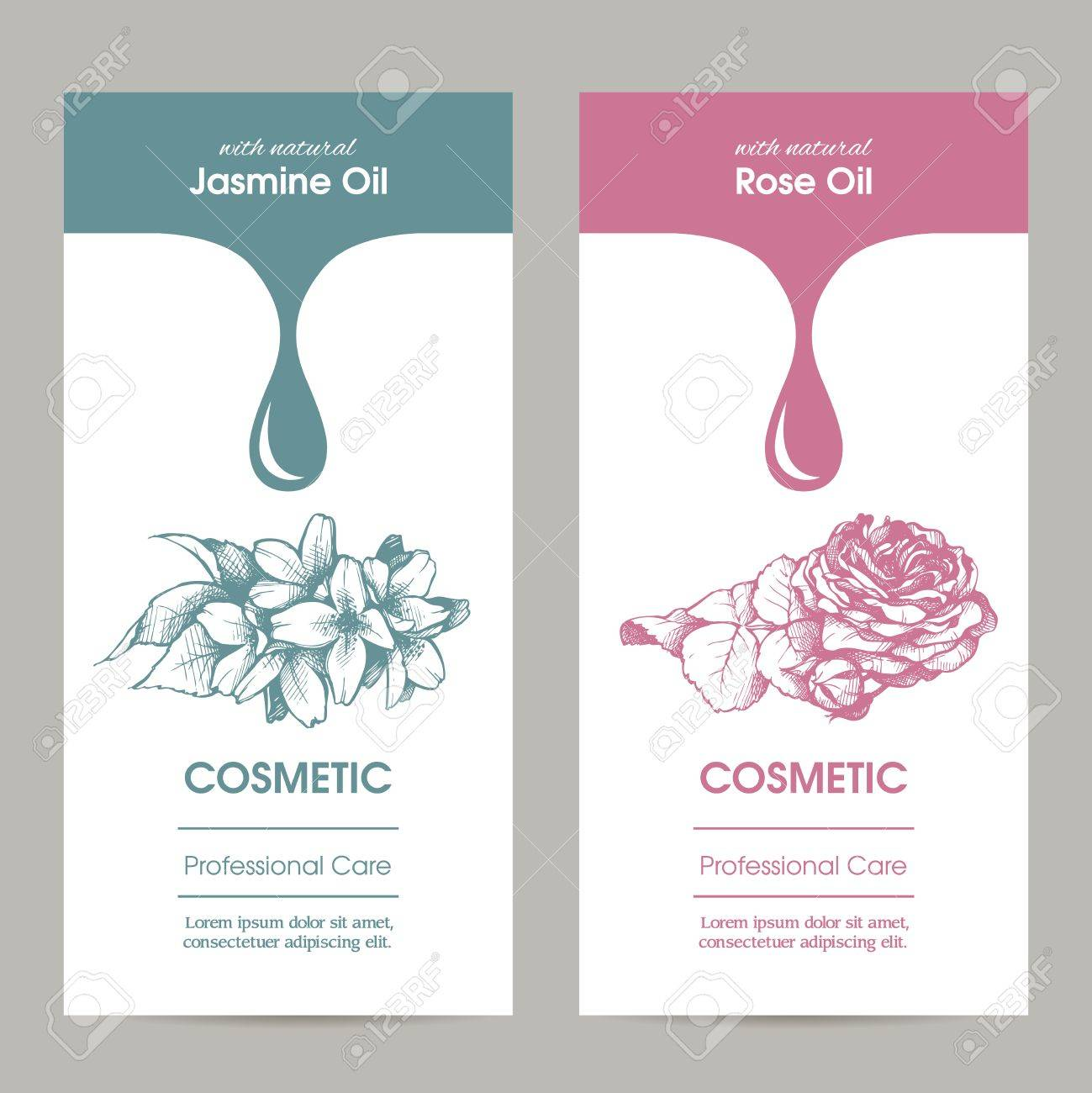 Vector Set Of Templates Packaging Cosmetic, Label, Banner, Poster ...