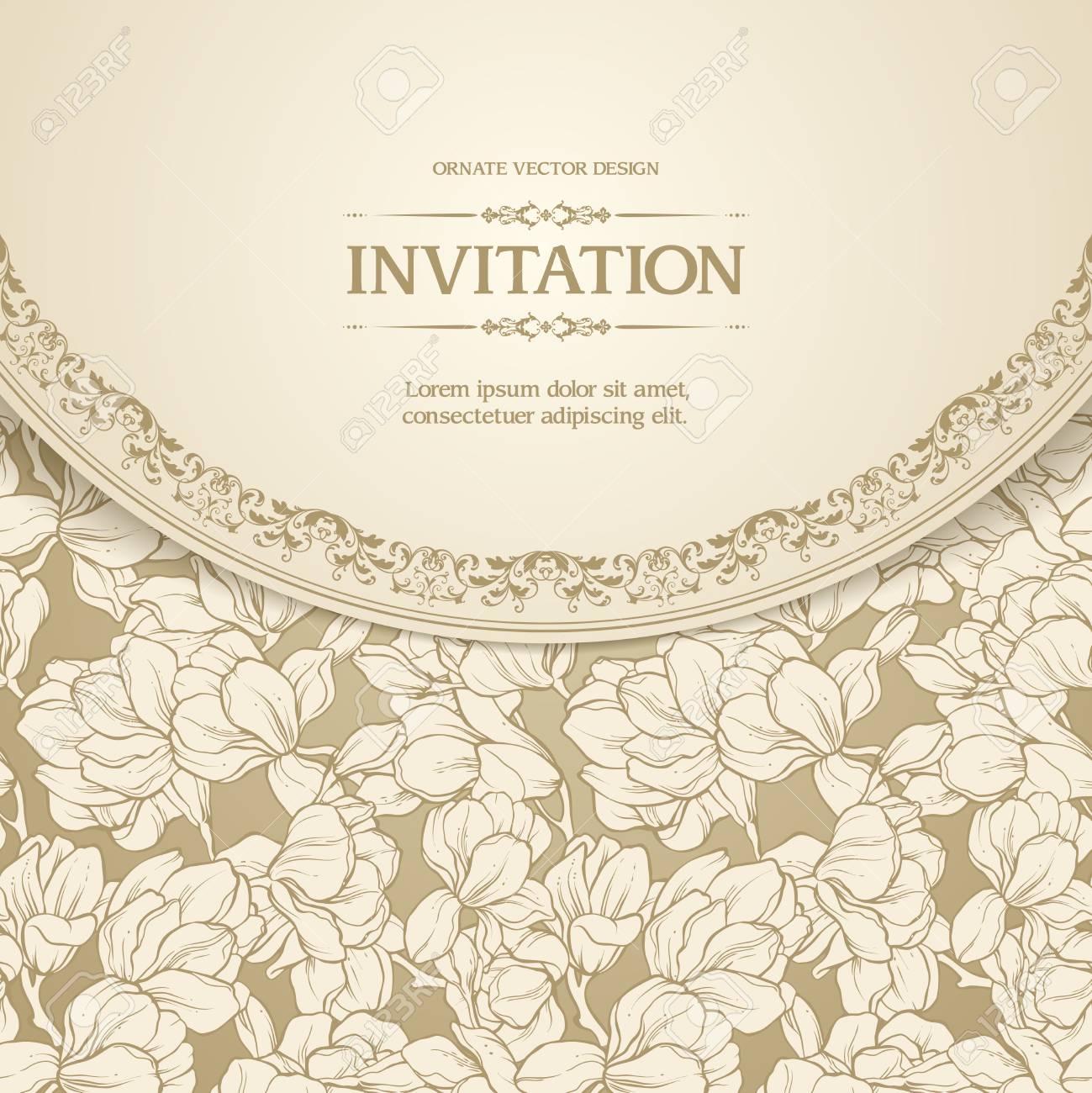 Vintage Floral Hintergrund Design Vektor Illustration