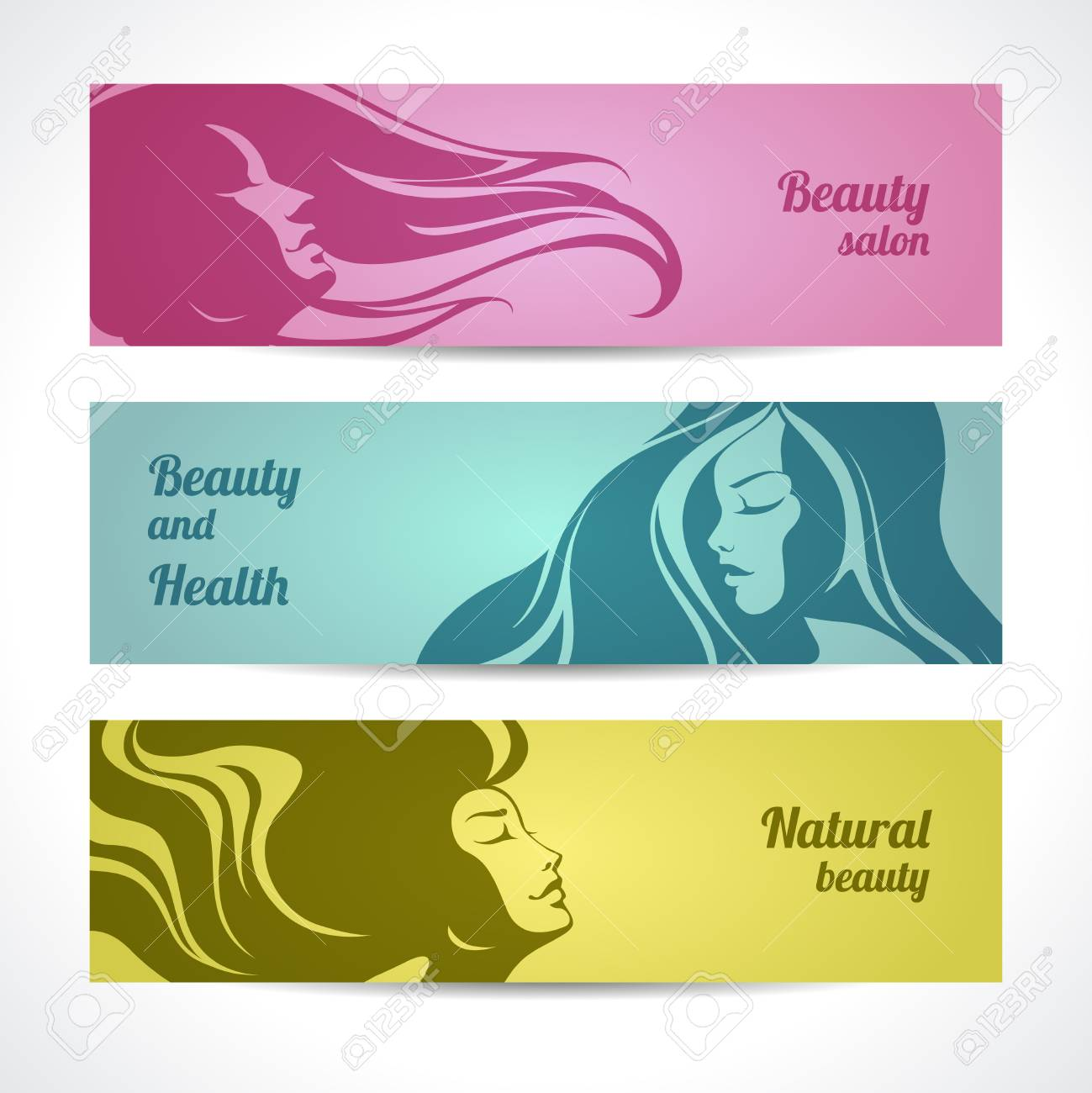 Set Of Beauty Salon Cosmetics Spa Banners Labels Cards Design Royalty Free Cliparts Vectors And Stock Illustration Image 96931048