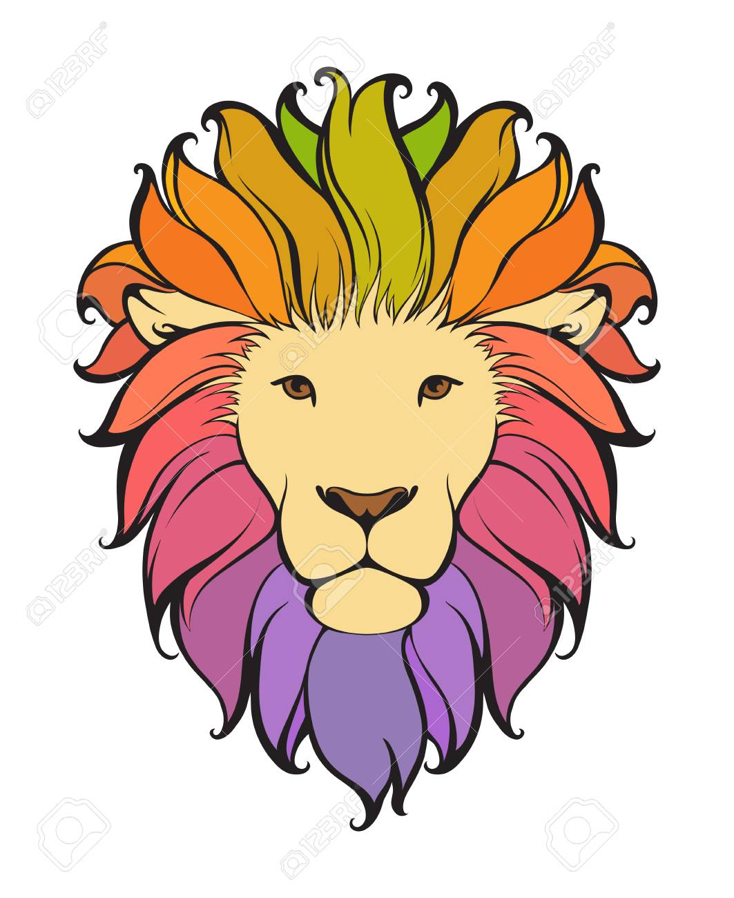 colorful abstract lion vector animal illustration can be used rh 123rf com lion vector freepik lion head vector free download