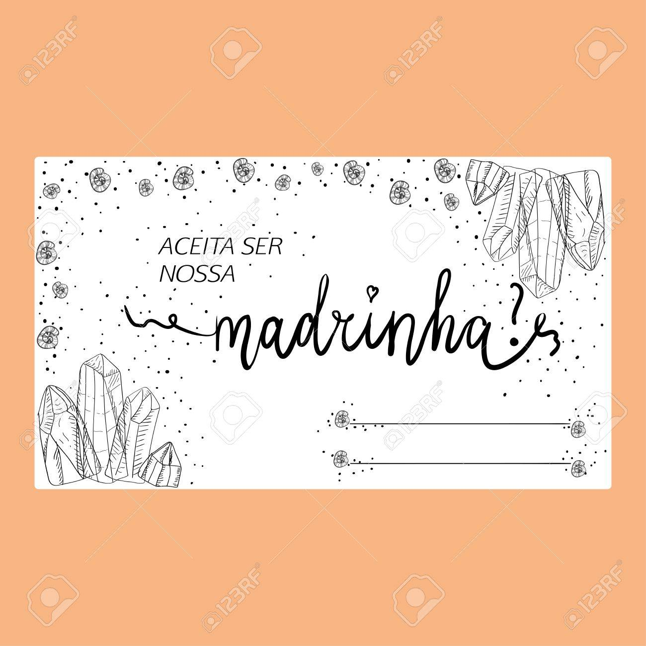 Template Of Wedding Invitation With The Text In Portuguese Language ...