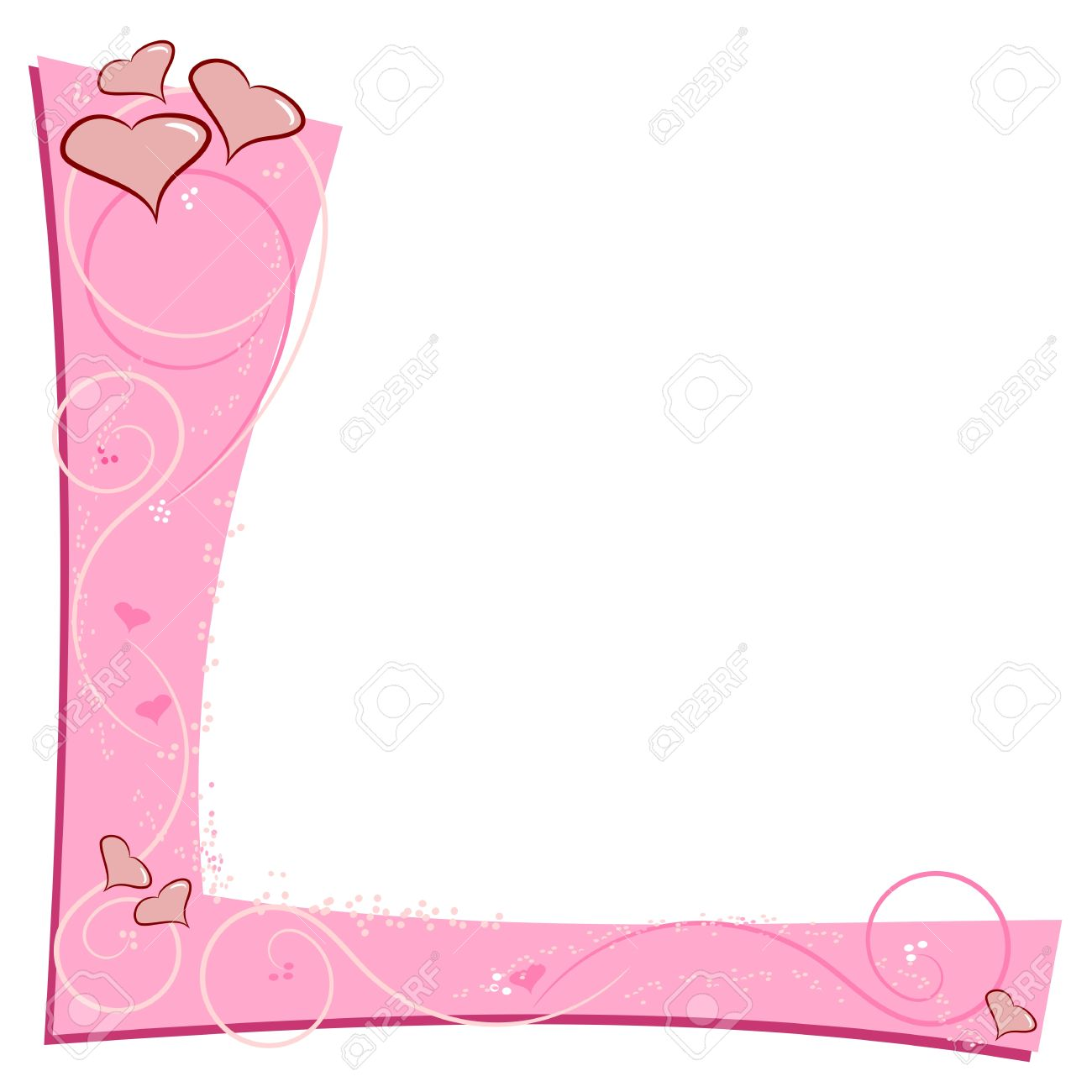 Pink love themed border frame with copy space Stock Vector - 17104124