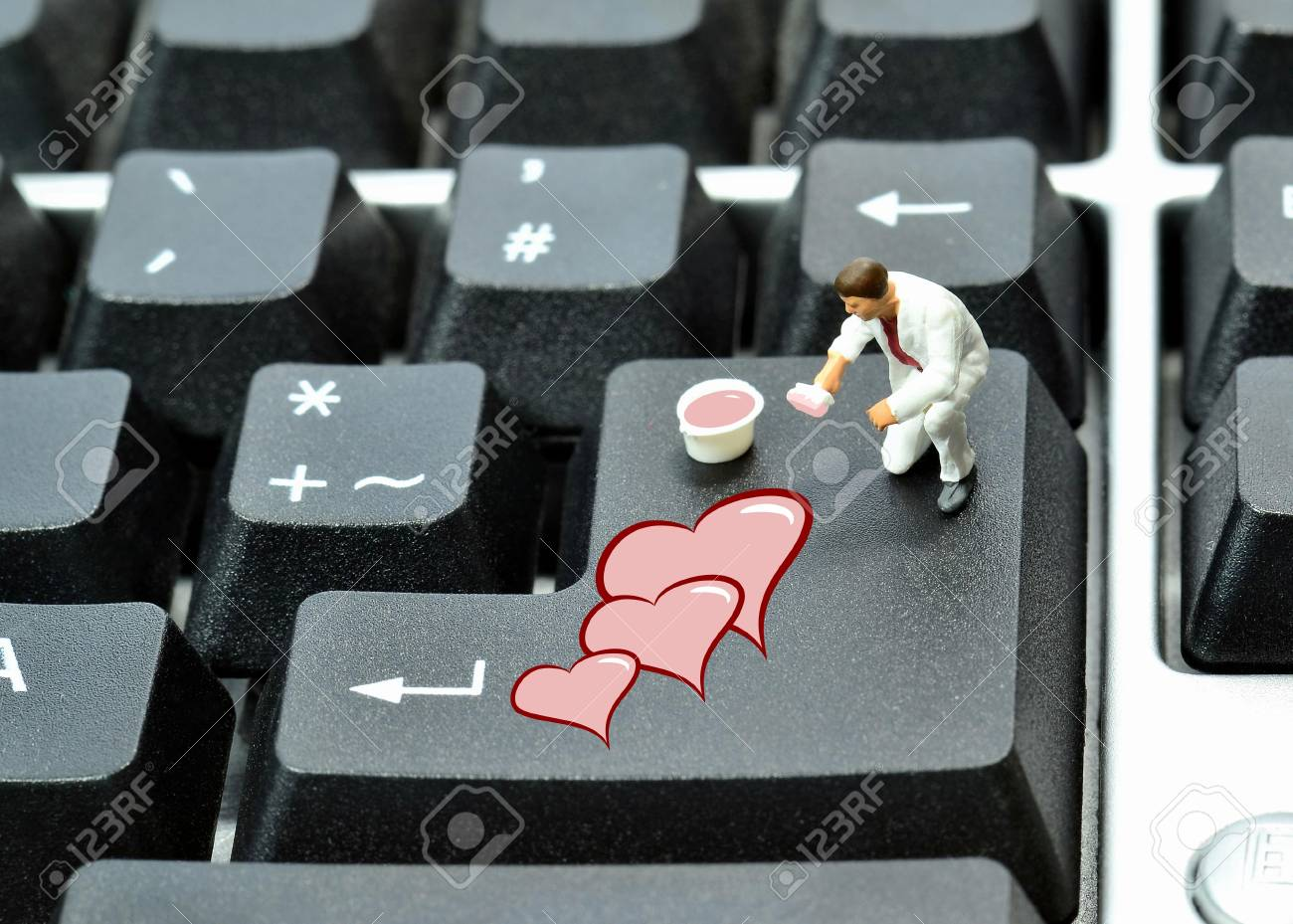 Online dating concept Stock Photo - 17476184