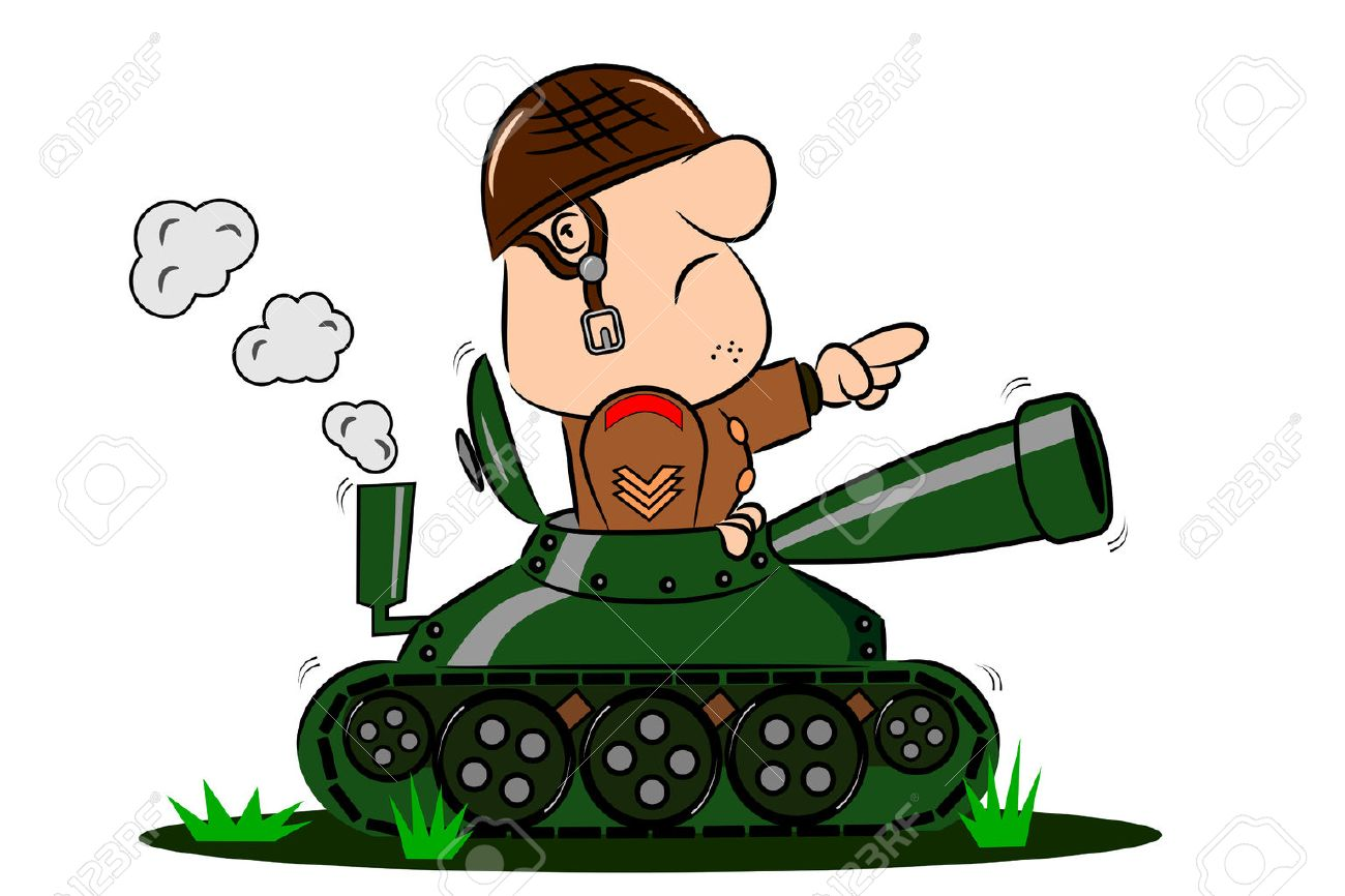 a cartoon army soldier in the turret of a tank royalty free cliparts rh 123rf com cartoon army images cartoon army tank pictures