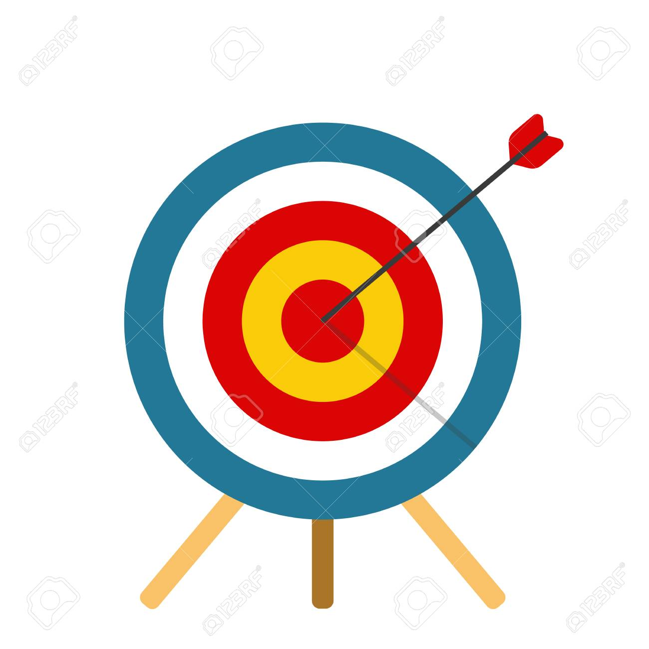Shot on target Business or sports concept
