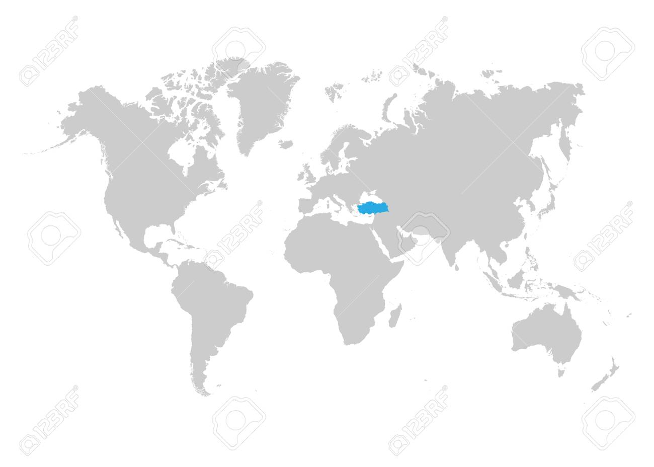 The map of Turkey is highlighted in blue on the world map