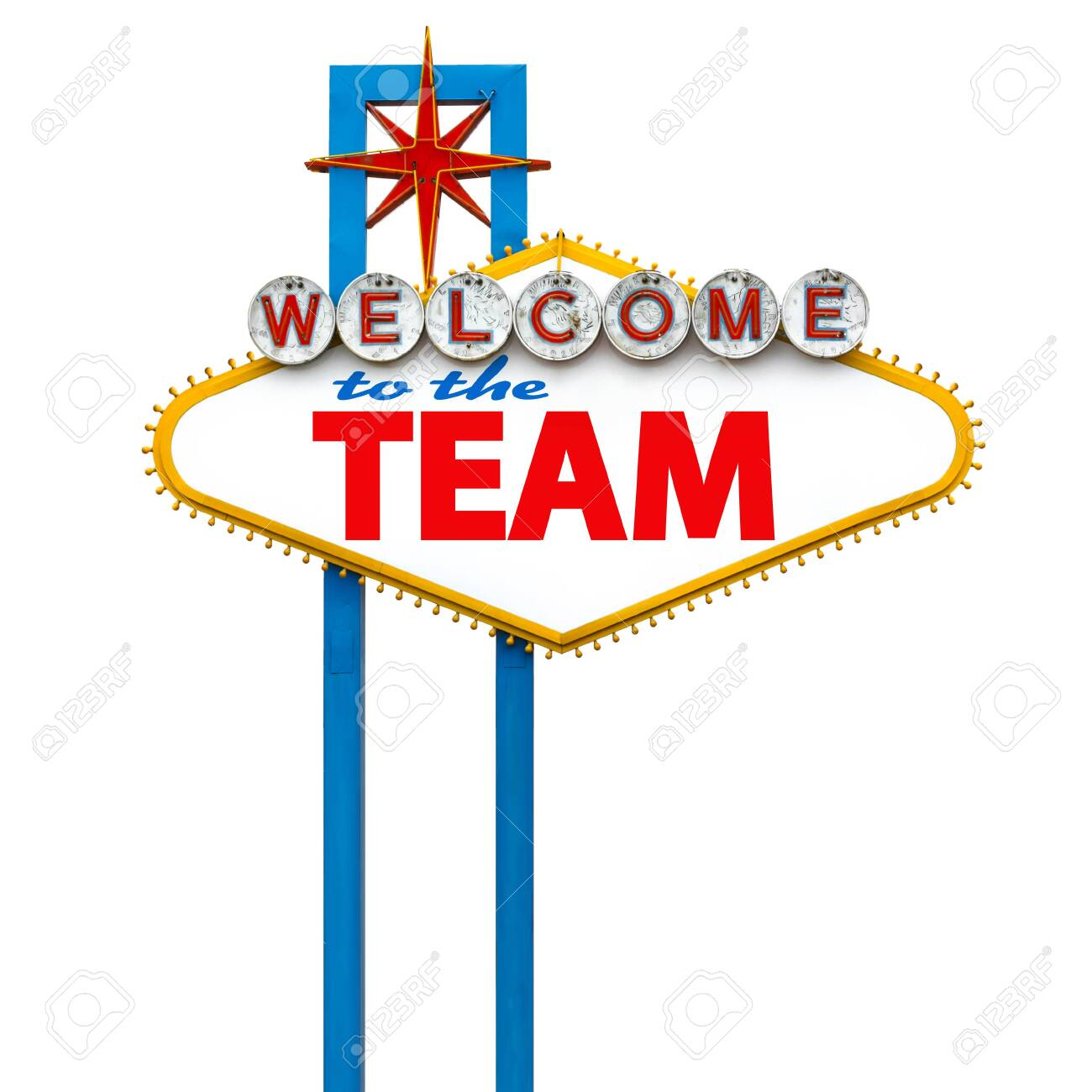 Welcome to the team on Las Vegas sign - 148992294