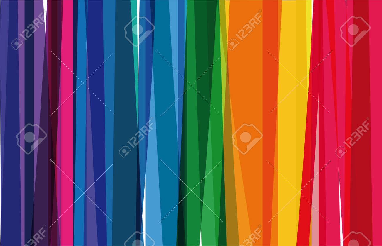 Horizontal background of colorful rainbow colored vertical stripes - 149821104