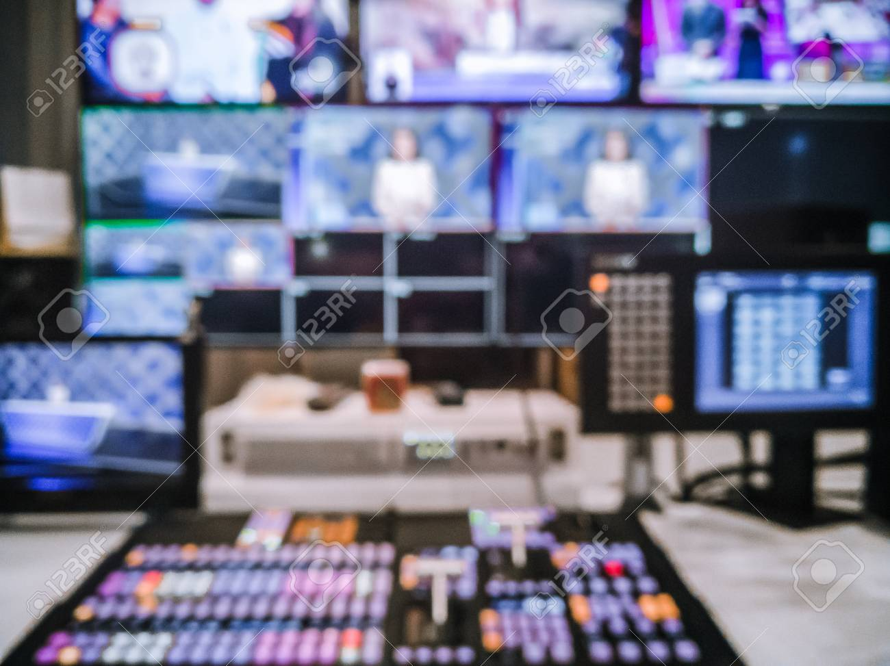 Blur image video switch of Television Broadcast, working with