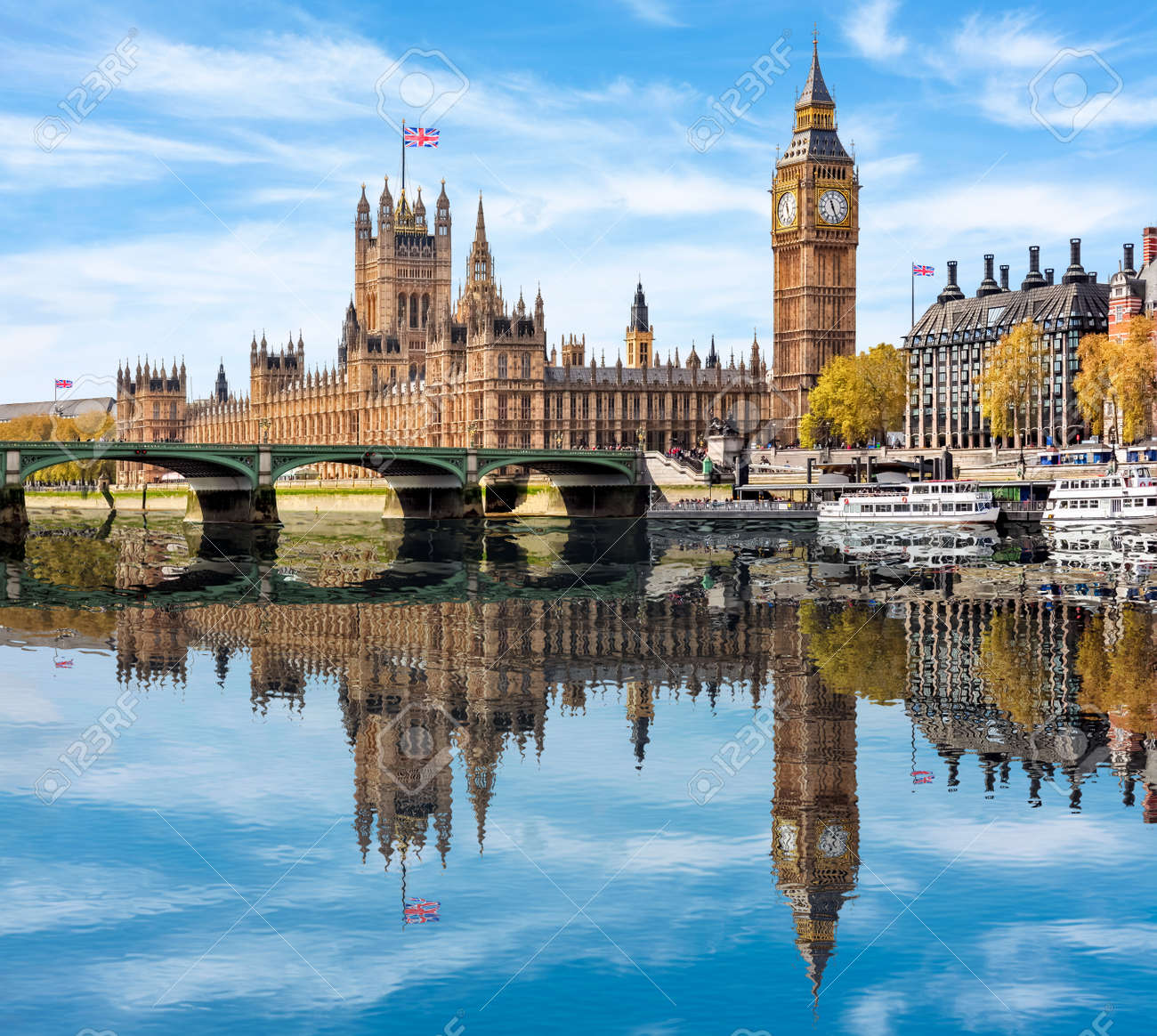Houses of Parliament and Big Ben, London, UK - 136950141